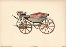 New York Graphic Society Barouche carriage vintage print