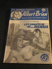 1940s ADVENTURES POLICIER ALBERT BRIEN DETECTIVE SEX MURDER FRENCH  PULP #512