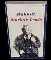 Babbitt Sinclair Lewis [Paperback, 1961] Signet Classic FREE SHIPPING