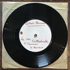 "Vinyl 7"" Test press Gilbert Becaud La 1ere Cathédrale VG+ Great!"