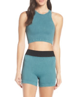 NEW Free People Movement Seamless Prajna Short Yoga in Teal XS/S & M/L $48.34