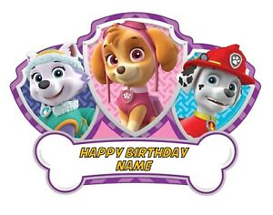 Paw Patrol Edible Image Cake Birthday Topper Party 1/4 Sheet Personalized