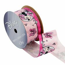 "1-1/2"" Disney Ribbon - Minnie Mouse Ribbon - 3 yds Pink Satin"