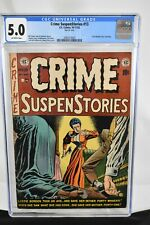 Crime Suspenstories #13 1952 CGC Graded 5.0  Lizzie Borden Cover Story EC Comics