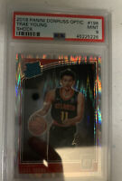 2018 Panini Donruss Optic Trae Young SHOCK PRIZM ROOKIE RC #198 PSA 9 MINT