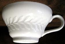 ONE Single Vintage SHENANGO CHINA Flat Cup Carlton LAUREL Pattern Solid WHITE