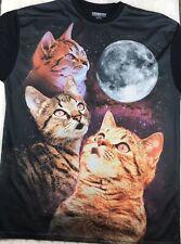 Chemistry Cat Galaxy Space T Shirt Mens XL Black Mesh Front RN#86947