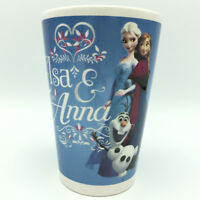 "Disney FROZEN ANNA ELSA OLAF Coffee Blue Ceramic 5"" Mug Cup EUC"