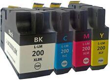4x TINTE PATRONEN für LEXMARK 200XL 210XL für OfficeEdge PRO4000 PRO5500T