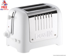 Dualit 2 Slot Lite Toaster Small Kitchen Appliances Wide Slot Gloss White