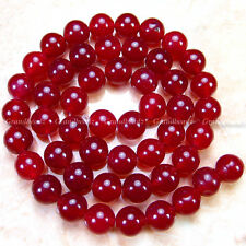 "Wholesales 10 strands x 8mm Asian Red Jade Gemstone Round Beads 15.5"" GB217"