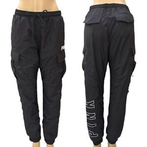 Victorias Secret PINK Ultimate Cargo Classic Jogger  Pants Black Sz Medium