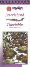 Hawaiian Air Interisland timetable 2/1/95 [6061] (buy 4+ save 50%)