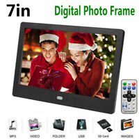 7 inch LCD Screen HD Digital Photo Frame LED Electronic Album Movie Player TG