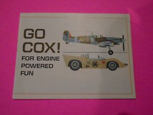VTG COX GAS POWERED CARS AND AIRPLANES CATALOG MULTI PAGE COLOR RARE MINT