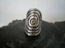 Celtic Spiral Ring, handmade wiccan wicca pagan witch witchcraft goddess druid