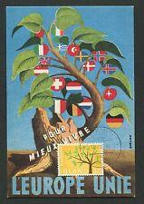 ISLAND MK 1962 EUROPA CEPT MAXIMUMKARTE CARTE MAXIMUM CARD MC CM d2266
