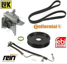 BMW E46 Power Steering Pump LUK LF-30 & Hose & Pulley & Belt & A/C O-Ring Kit