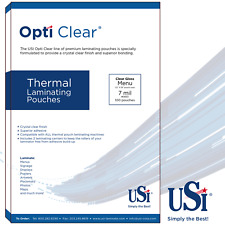 """Opti Clear Thermal (Hot) Laminating Pouches Menu Size 7 Mil 12x18"""" 100 Pouches"""