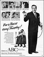1951 Ted Mack original amateur hour show ABC radio vintage photo Print Ad adL56