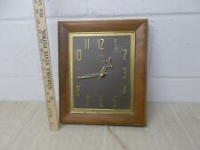 SUNBEAM TEAK WOOD WALL CLOCK MID CENTURY model AA-510 USA Made 115V