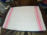 "Vintage Pink Flower Border Tablecloth 60.5"" x 54.5"""
