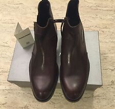 Brand New w Box Antonio Maurizi Brown Leather Ankle Boots for Men Size 9 US