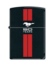 Zippo Lighter - Ford Mustang 50th Anniversary Black / Red Stripes 2063