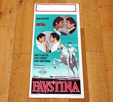 FAUSTINA locandina poster Renzo Montagnani Vonetta McGee Enzo Cerusico Roma AB73