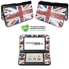 GB - Bandera Británica - Grunge Estilo carcasa de vinilo adhesivo para Nintendo