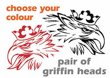 scania truck decal 2x 1200mm wide screaming griffin heads in any colour