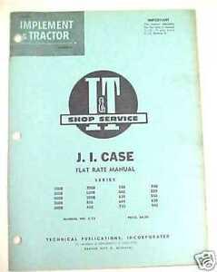 1961 I&T J.I. CASE TRACTOR SHOP SERVICE FLAT RATE MANUAL #C-13