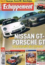 Echappement   N°504   Aout 2009 : Nissan GT-r porsche gt3