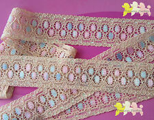 2 METRES Multi Coloured Stretch Lace with Metallic Flecks on Edges 28mm Wide