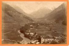 Roessinger Jeanneret, Suisse, Vue d'une vallée et rivière, ca.1870, vintage