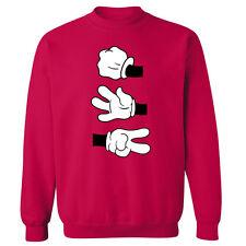 Mickey Hands Rock Paper Scissors Unisex Sweater Sweatshirt Jumper