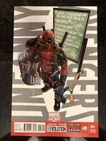 Uncanny Avengers #1 ( Marvel 2012 ) Deadpool Variant