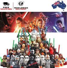 Star Wars Lego & MOC figs Vader Yoda Luke Leia Ren Mandalorian C3PO Solo Clone