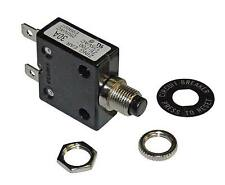 Philmore 30 Amp Push Button Circuit Breaker 32V DC or 250V AC, Fuse