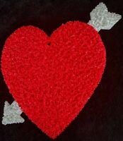 Vintage Valentines Day Heart w/ Arrow Melted Plastic Popcorn Decoration Wedding❤