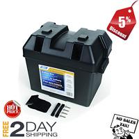 BATTERY BOX AUTOMOTIVE Marine RV Batteries Plastic Storage Group Lift-Off Lid