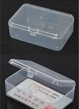Small Transparent Plastic Storage Box Clear Square Multipurpose Display Box
