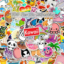 100 Pcs Laptop Stickers for Hydro Flask VSCO Girl Decals Skateboard Suitcase