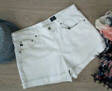 ADRIANO GOLDSCHMIED // Size 31 // NWT Hailey White Denim Roll Up Shorts