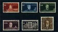 LIECHTENSTEIN 1940 Nr 186-191 gestempelt (105683)