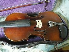 nicklous amatus german violin early 1900s full size bow case 1 pc back
