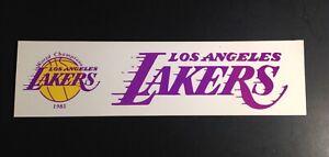Los Angeles Lakers 1985 World Champions Bumper Sticker VTG NBA Memorabilia