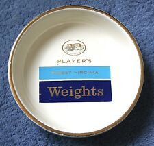VINTAGE PLAYERS FINEST VIRGINIA WEIGHTS ASHTRAY BY EMPIRE PORCELAIN COMPANY