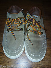 RIVER ISLAND BOYS BROWN BEIGE LETHER SUEDE SHOES