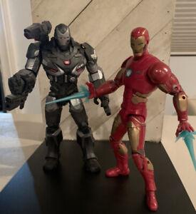 "War Machine 6"" + Iron Man MCU Figures Marvel Legends Avengers Endgame LOT"